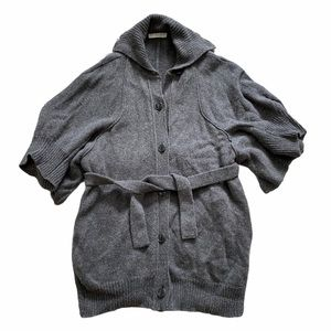 Stella McCartney 100% wool sweater wrap coat